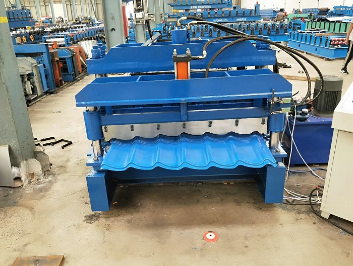 European Market Roofing Glazed Tile Roll Forming Machine