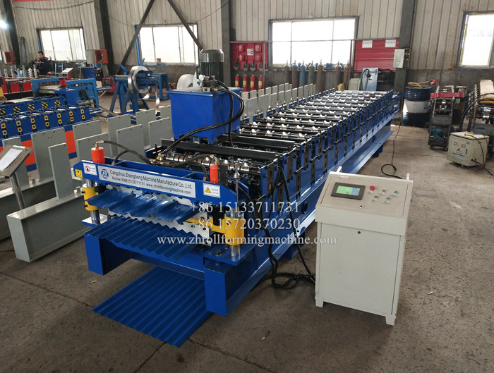 IBR and Corrugated sheet double layer roll forming machine