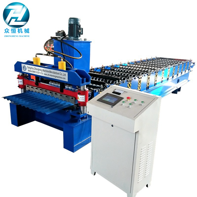 Metal Corrugated sheet roll forming machine with stacker