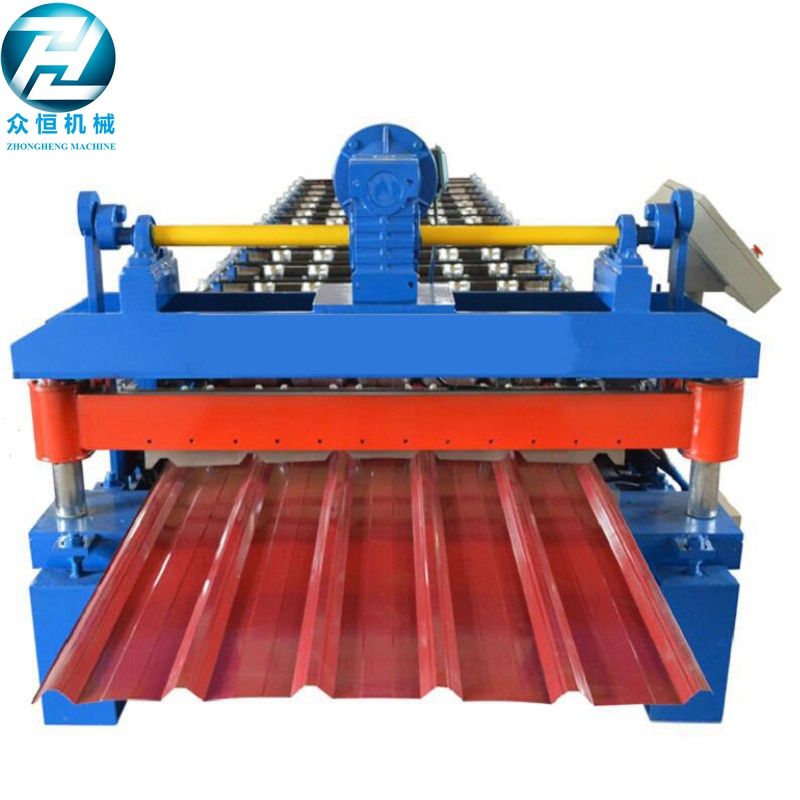 Fast speed motor cutting Roof roll forming machine