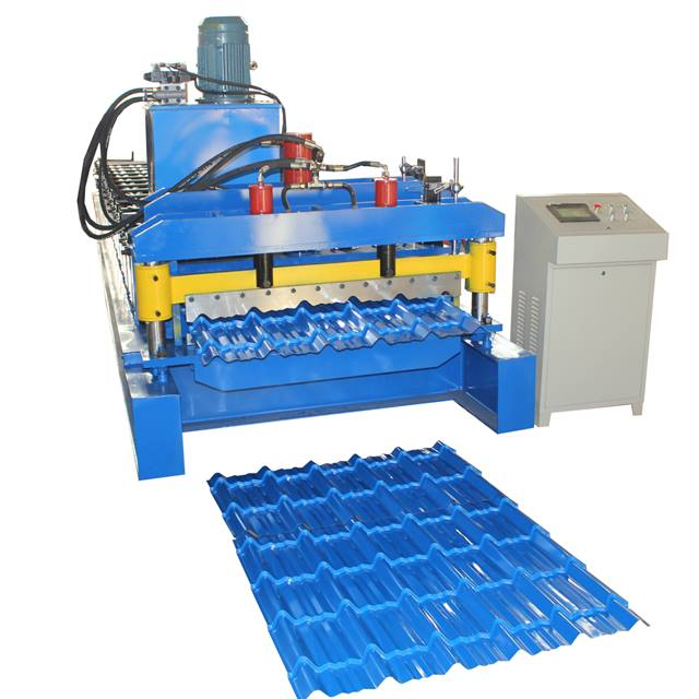 Nigeria Aluminum Roofing Step Tile Forming Machine