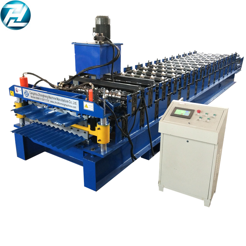 Two deck roll forming machine