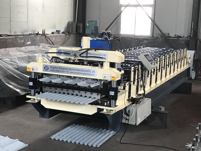Three in one metal roofing roll forming machine