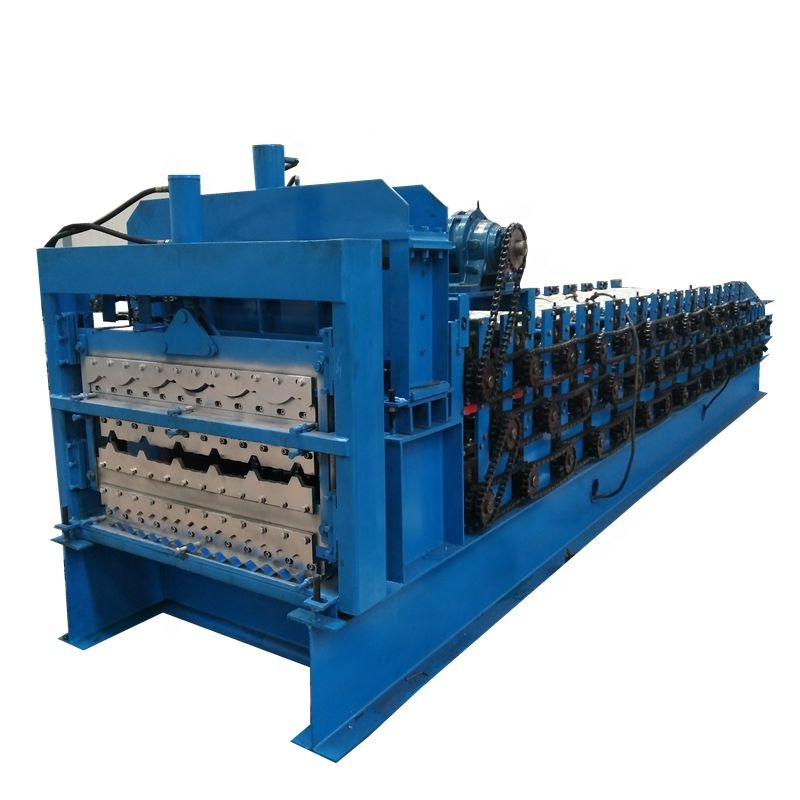3-in-1 Automatic color steel glazed roof tile metal forming machine