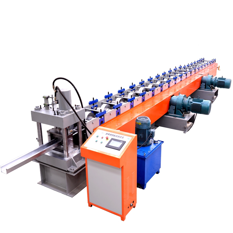 Steel Roof Truss Making Machinery Metal Roll Forming C Purlin Machines