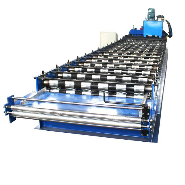 Automatic Step Waved Aluminum Glazed Tile Roof Panel Forming Making Machine in Nigeria