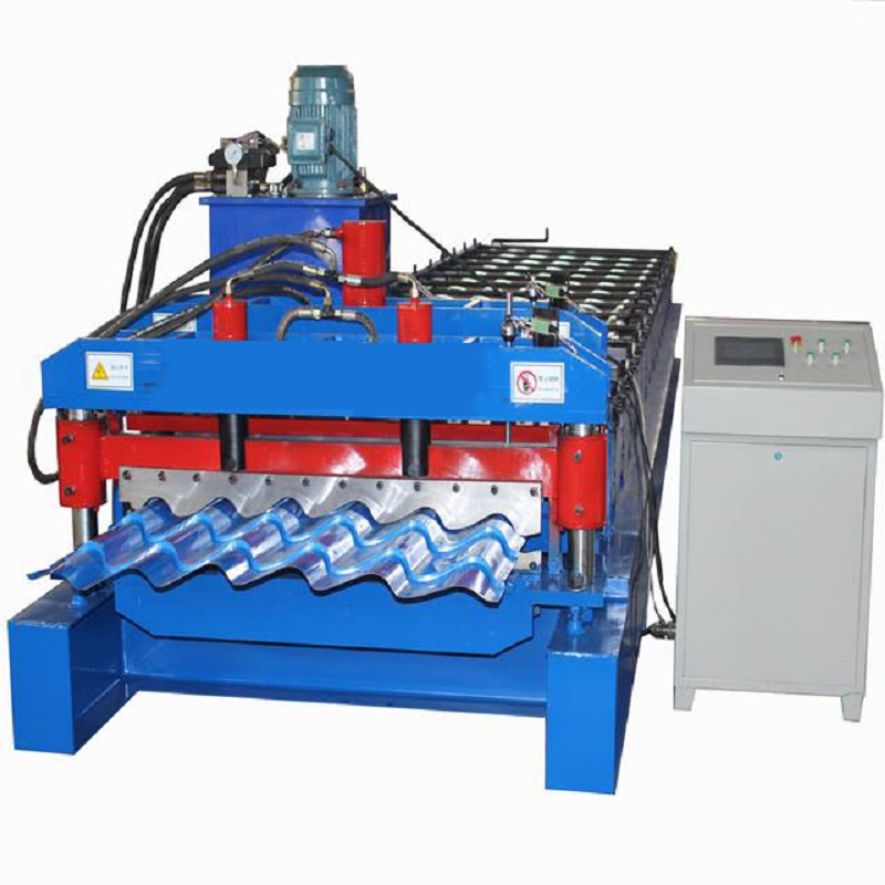 Construction Portable Ceramic Glazed Tile Roof Sheet Cutting Roll Forming Machine