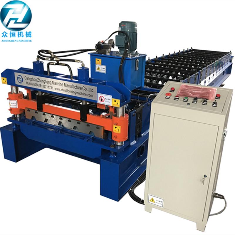 Trapezoidal/IBR 686 profile metal steel sheet panel building rolling forming machine