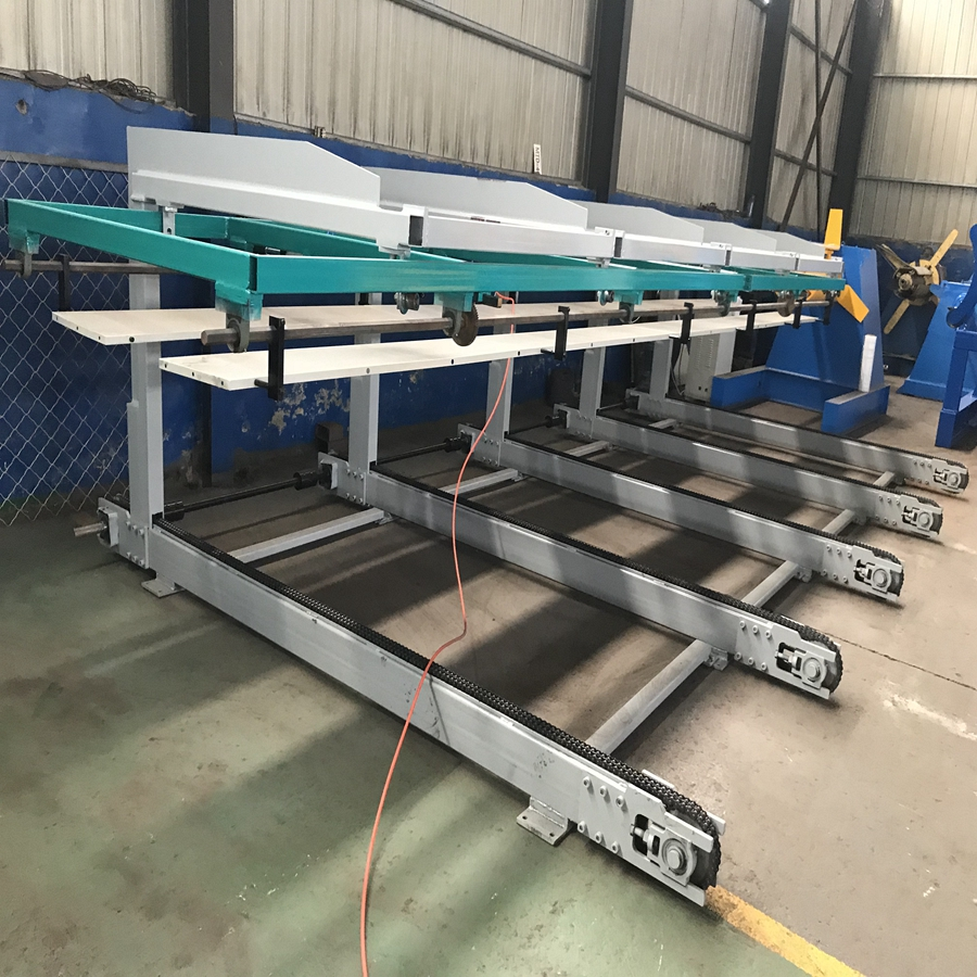 pneumatic control Auto stacker for roofing panels