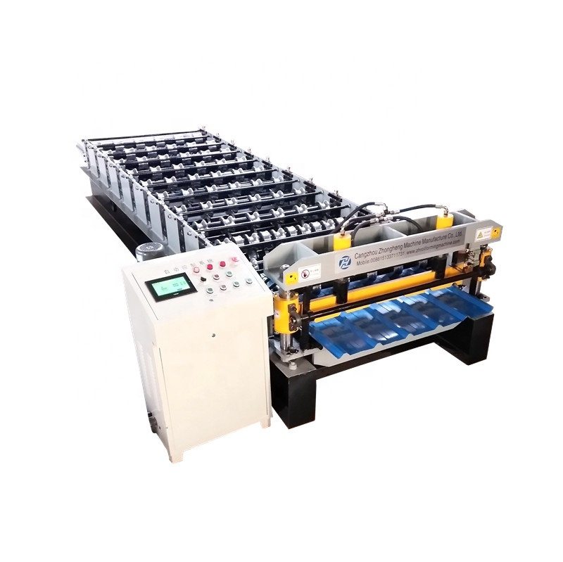 2019 new arrival 10% discount trapezoidal roof sheet making roll forming machine in stock
