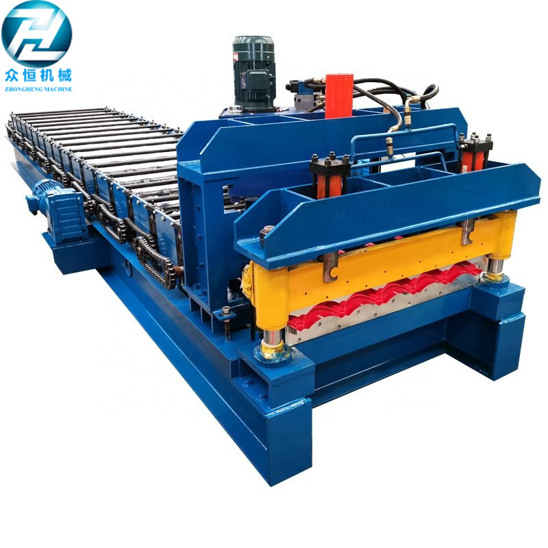 new design popular sheet metal roofing circular glazed tile forming machine