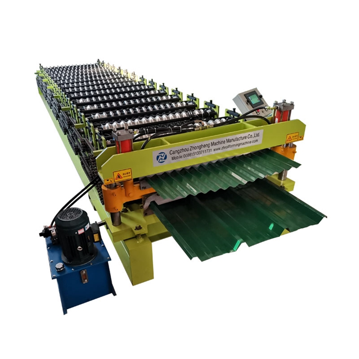 PV4 and corrugated sheet double layer roll forming machine