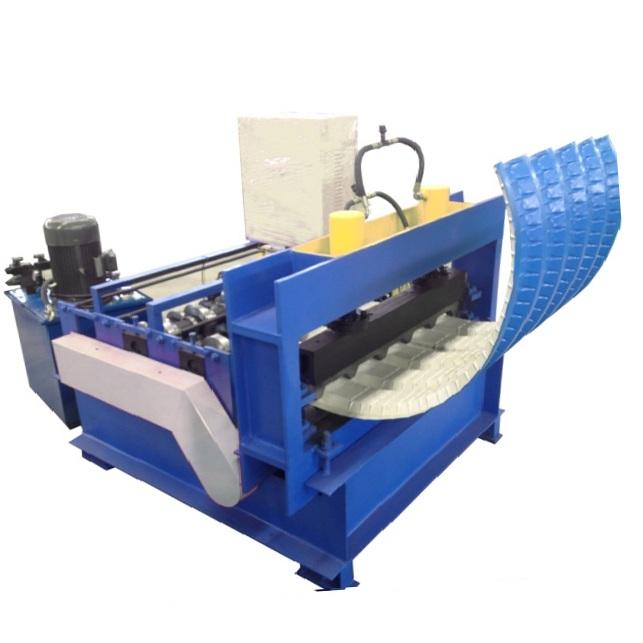 Roof sheet crimping machine