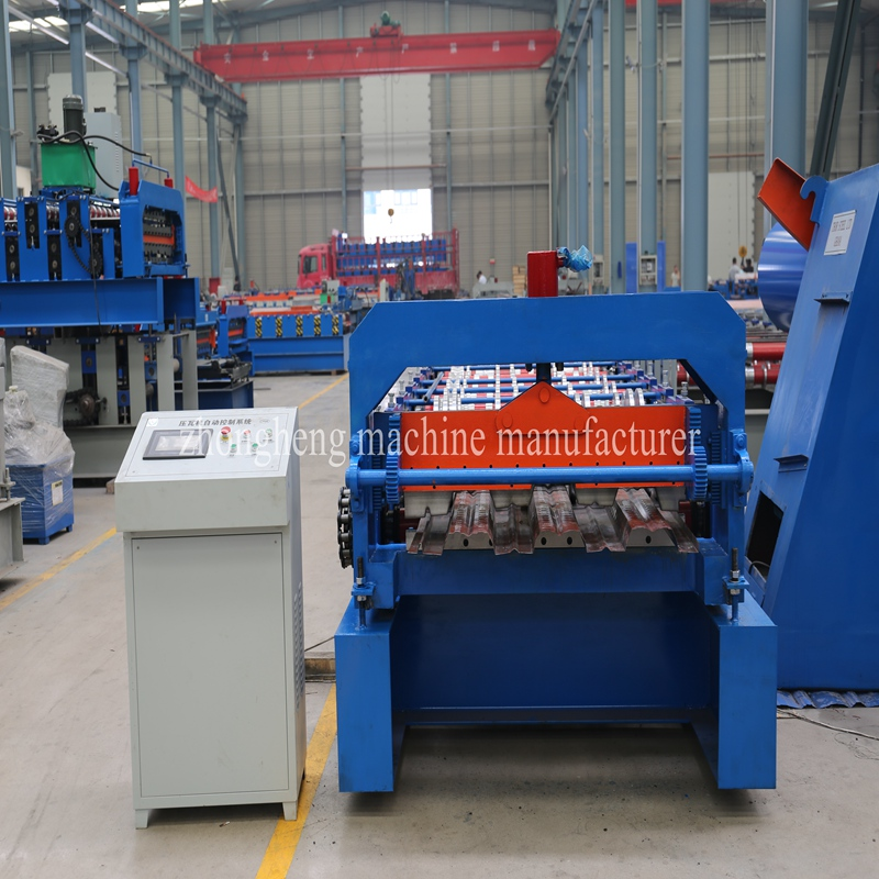 Construction steel decking profile forming machine