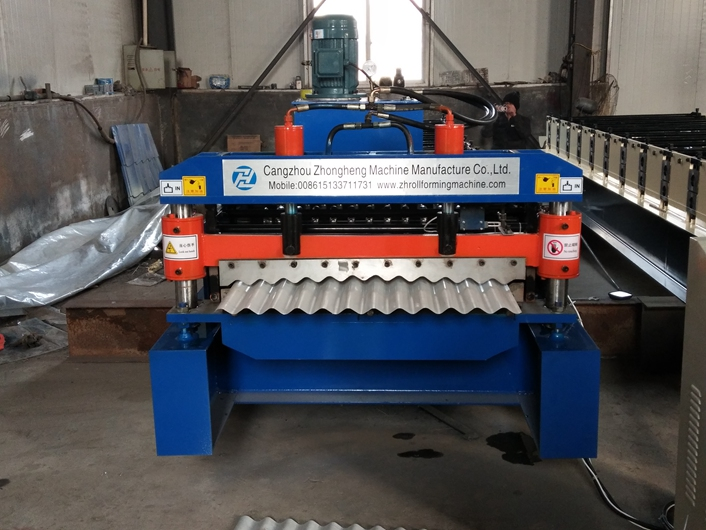European Style Corrugated Roof Sheet Roll Forming Machine‎