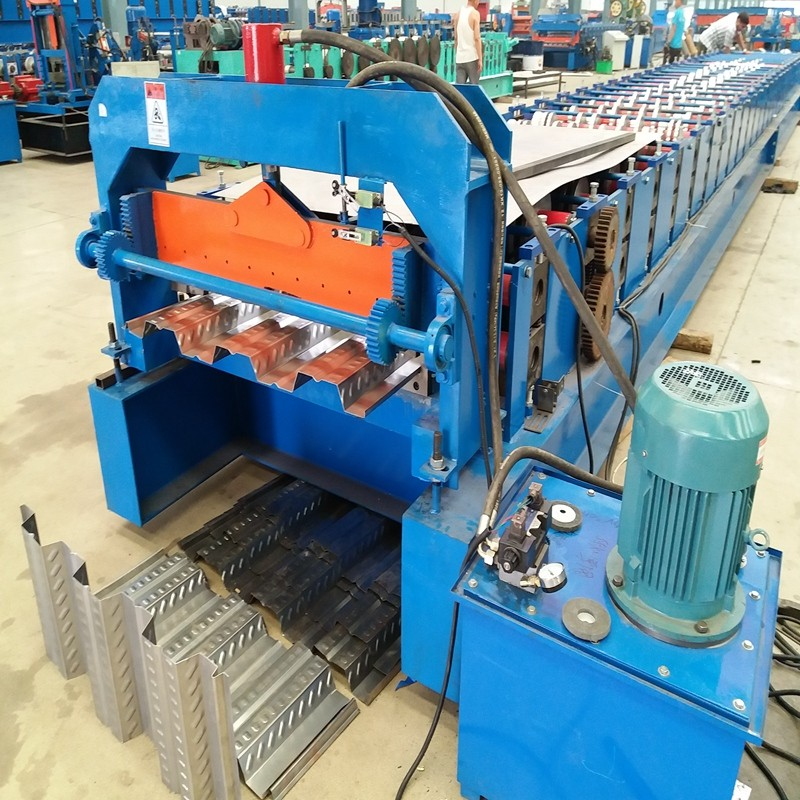 1.5mm thickness deck floor rolling forming machine with hydraulic cutting