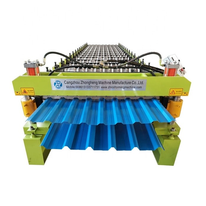 Multi profiles double layer roll forming machine PV4 Tr Double deck roofing sheet forming machine/tr roof sheet making machine