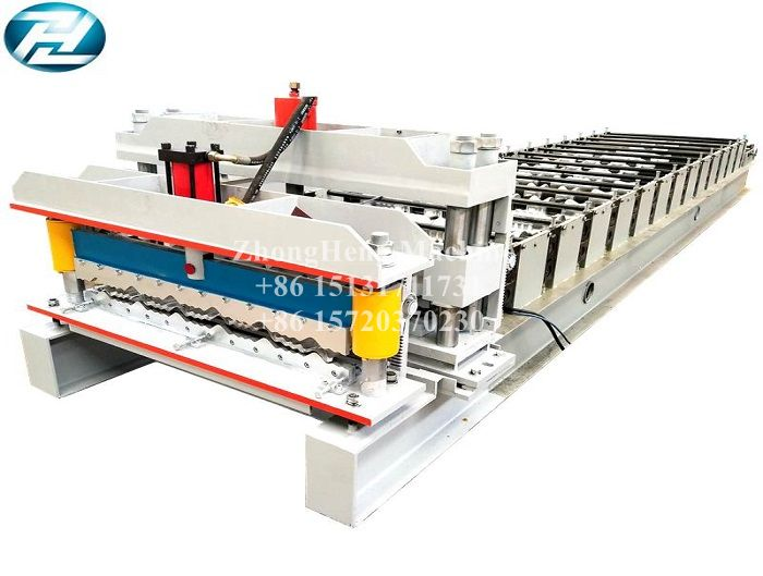 Nigeria Market Aluminium Step Tile Roll Forming Machine