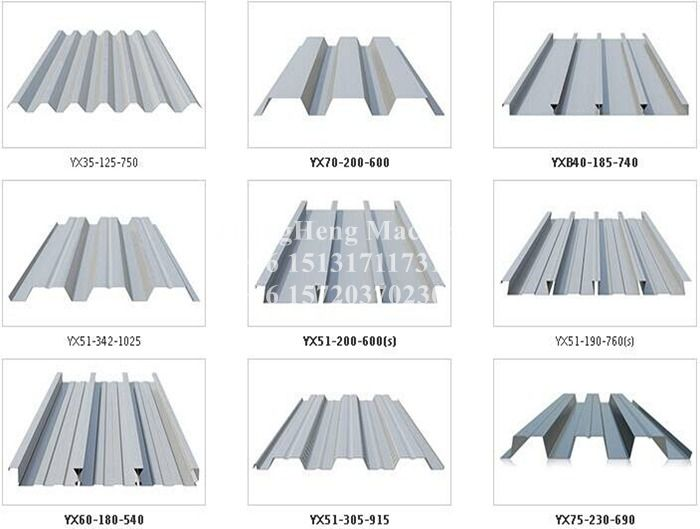 Construction Material Metal Deck Sheet Roll Forming Machine